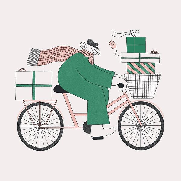 Christmas illustration by Hollie Fuller