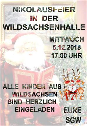 Einladung zur Nikolausfeier am 05.12.2018