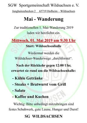 1.Mai 2019 - Wandern mit der SGW