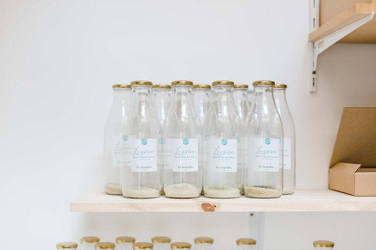 lessive naturelle zero plastique bouteilles en verre