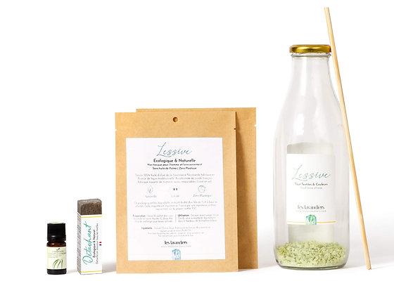 lessive maison naturelle ecologique rechargeable packaging compostable et biodegradable