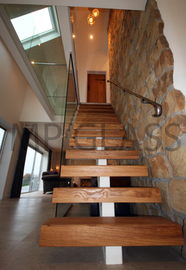 glass floor and stairs