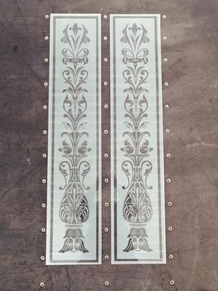 sandblasted design panels