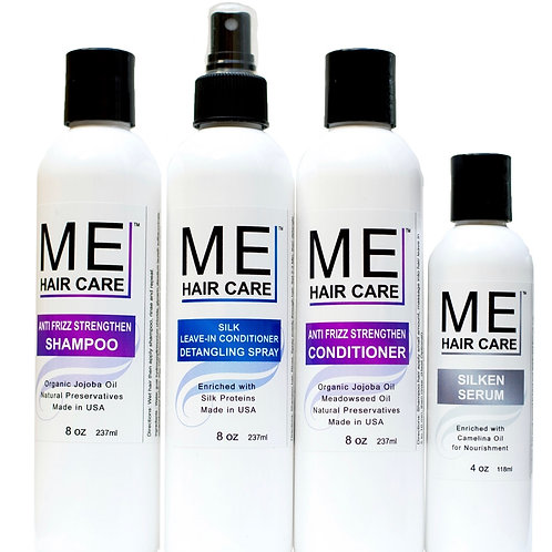 ME Anti Frizz Silk Press System With Silken Serum