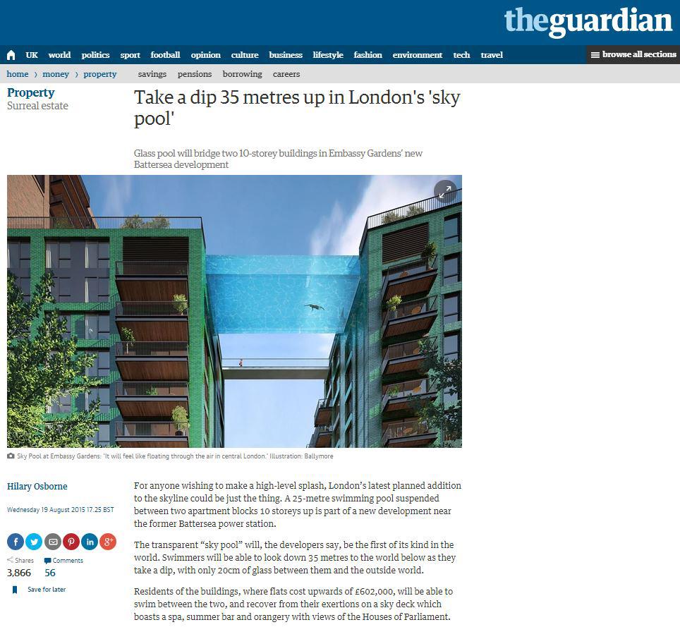 Guardian Article on Nine Elms
