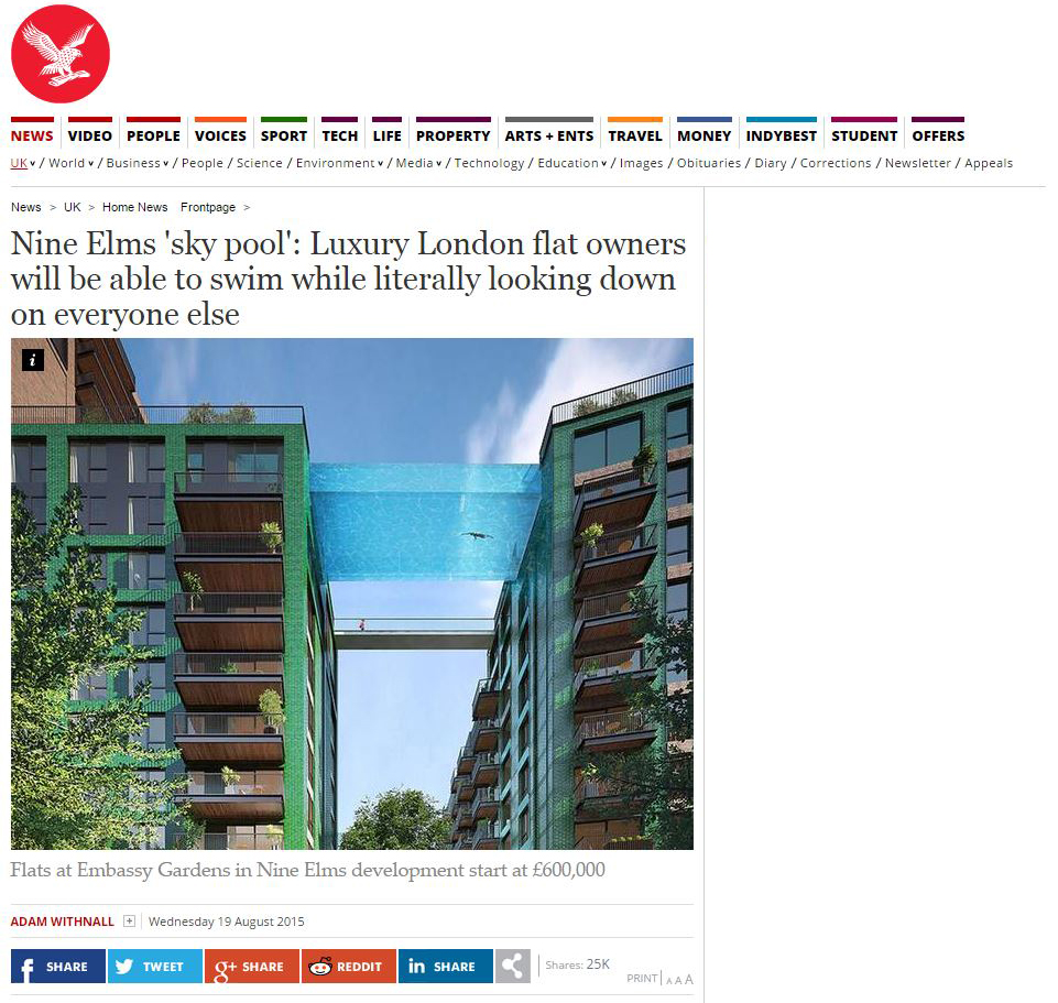 Independent article on Nine Elms