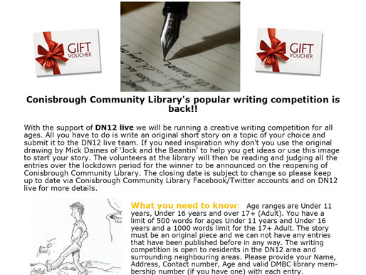 Writing Competition is Back at Conisbrough Library