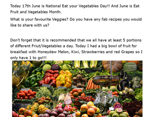 June is National Eat Vegetables Month