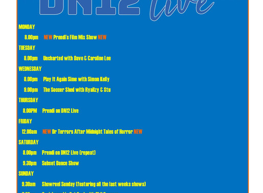 New Shows Added to DN12 Live Radio.