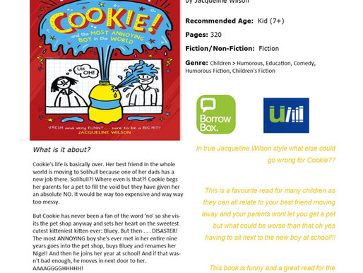 Recommended Reads From Conisbrough Library 19/06/20