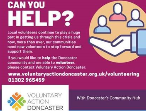 Voluntary Action Doncaster Needs Your Help