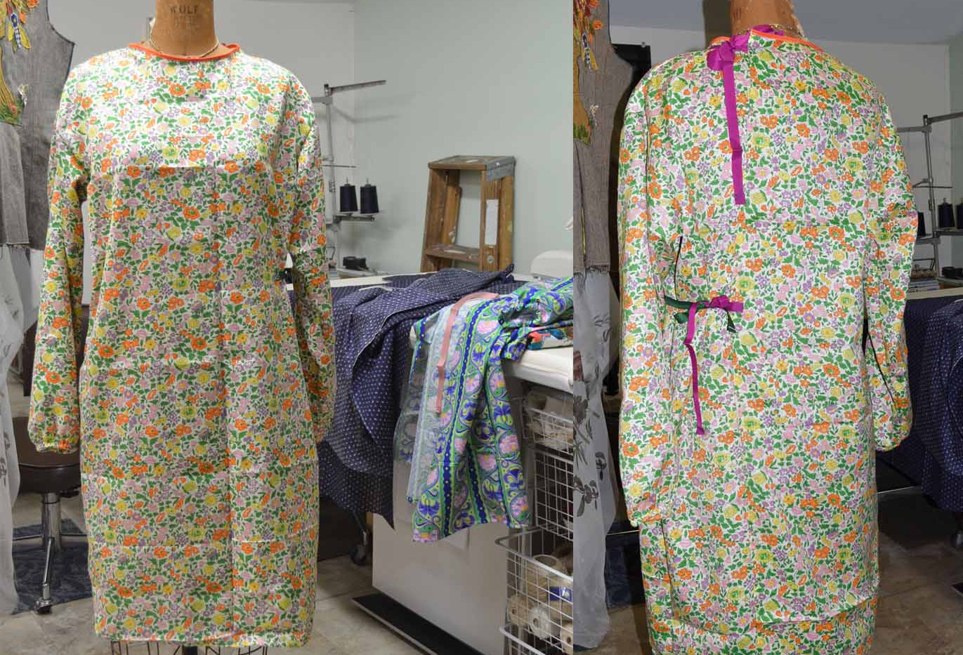 How to make washable cloth gowns.