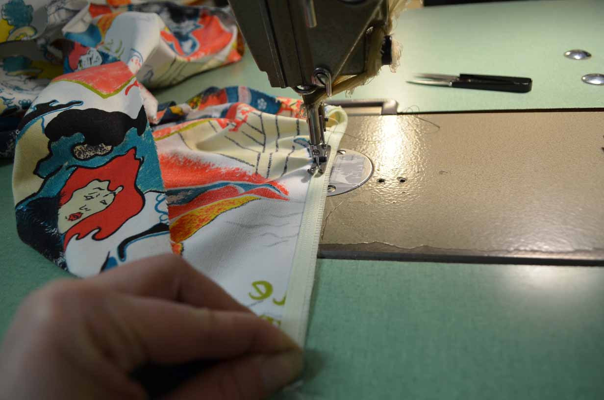 Sewing on the Sleeve Elastic