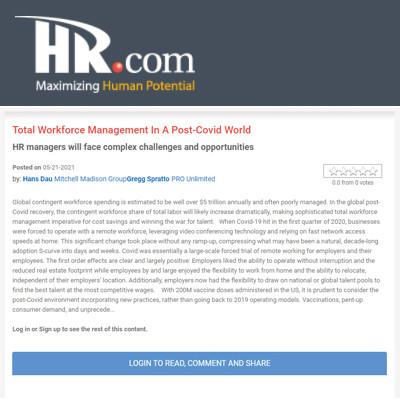 Total Workforce Management in a Post-COVID World