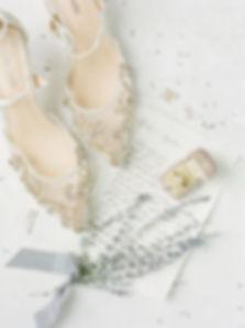 Bella Belle Gold Low Heel Wedding Shoe.j