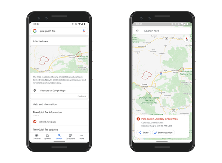 Google maps California and Colorado wildfires to help you escape the flames