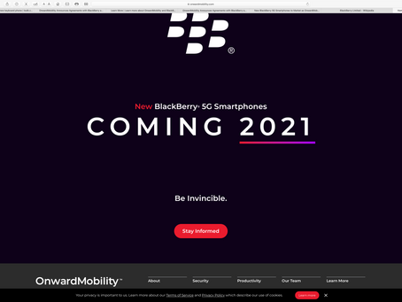 Hard to kill! BlackBerry on the comeback trail again with 5G phone set for 2021