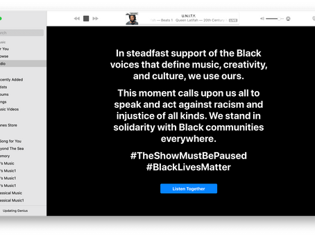 Apple Music message: `Speak and act against racism and injustice'