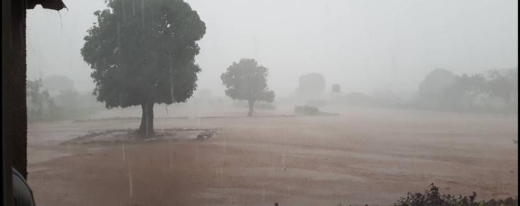 rains pouring down