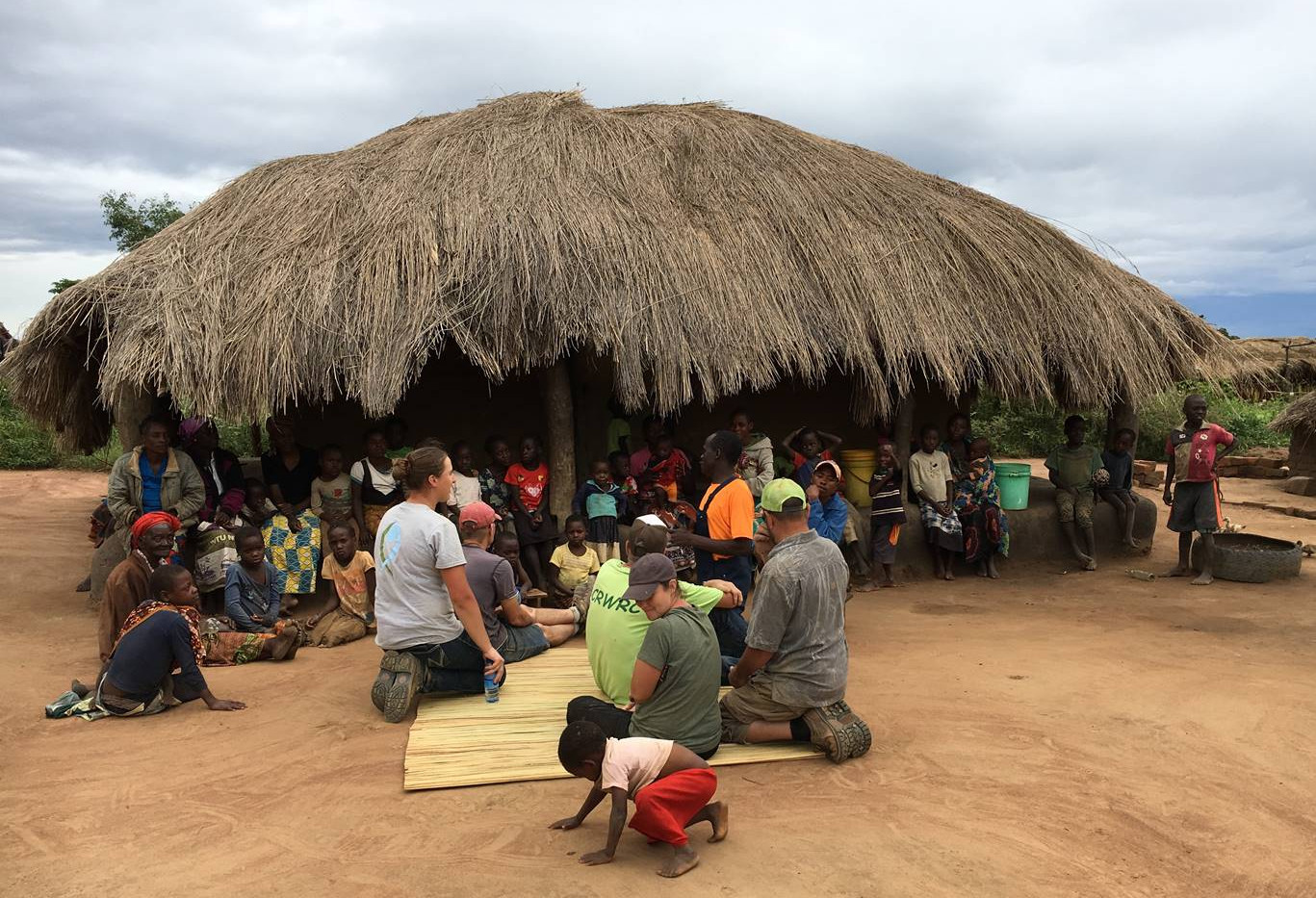 meeting people in the nearby villages