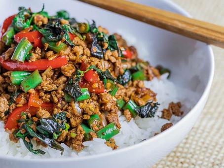15 Minute Thai Basil Tofu Stir Fry (Pad Krapow)