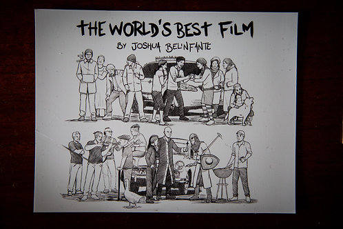The World's Best Film - B&W magnet