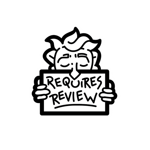 Requires Review -Lapel Pin (incl. shipping)
