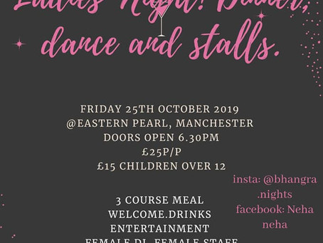 Ladies Only:  Friday 25th October 2019, Eastern Pearl, Manchester
