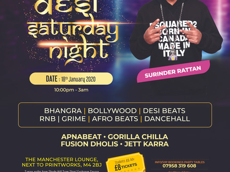 Saturday Asian Nightclub Party, The Manchester Lounge - January 18th 2020