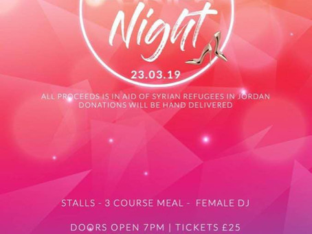 Ladies Only: Dinner & Dance event - Saturday 23rd March 2019, Eastern Pavillion, Oldham