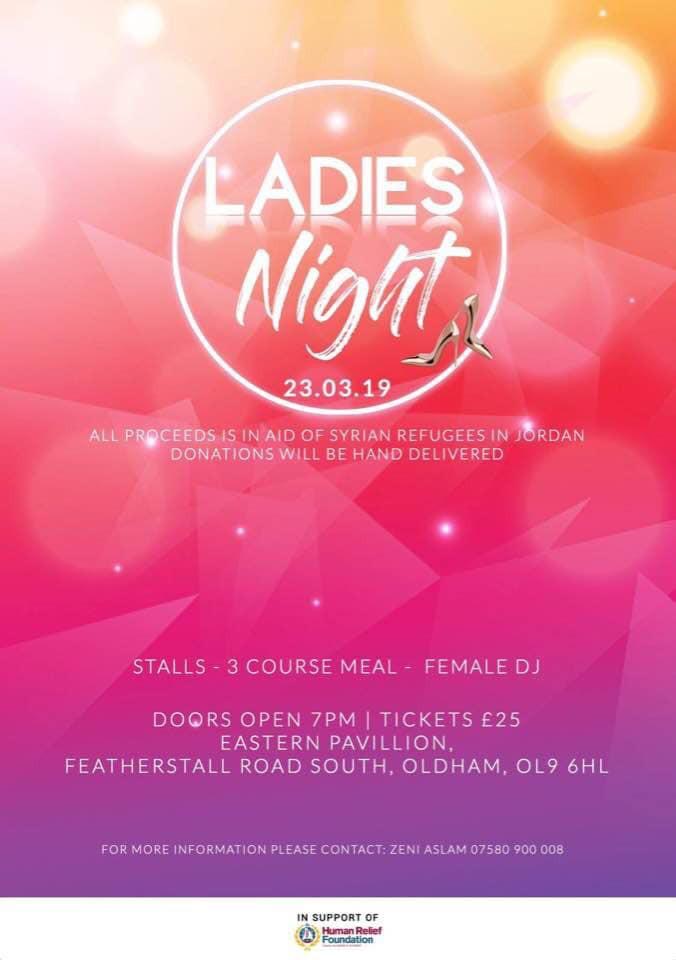 Ladies Night 23rd March 2019