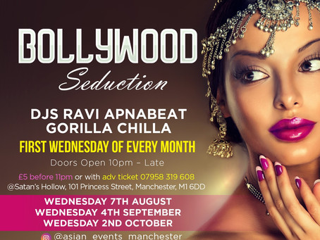 Bollywood Nights -Asian Nightclub, First Wednesday of Every Month, Manchester