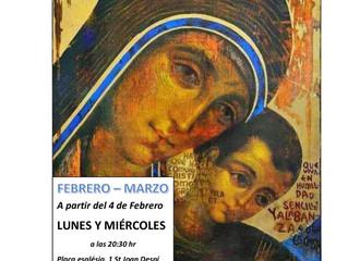 Catequesis per a joves i adults que organitzarà la Parròquia durant els mesos de febrer i març.