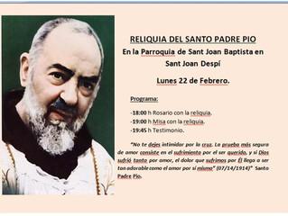 RELIQUIA SANTO PADRE PIO DE PIETRELCINA