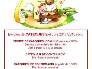 INICI DEL NOU CURS DE CATEQUESI