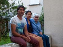 Evelyne, Mehdi et Sompin