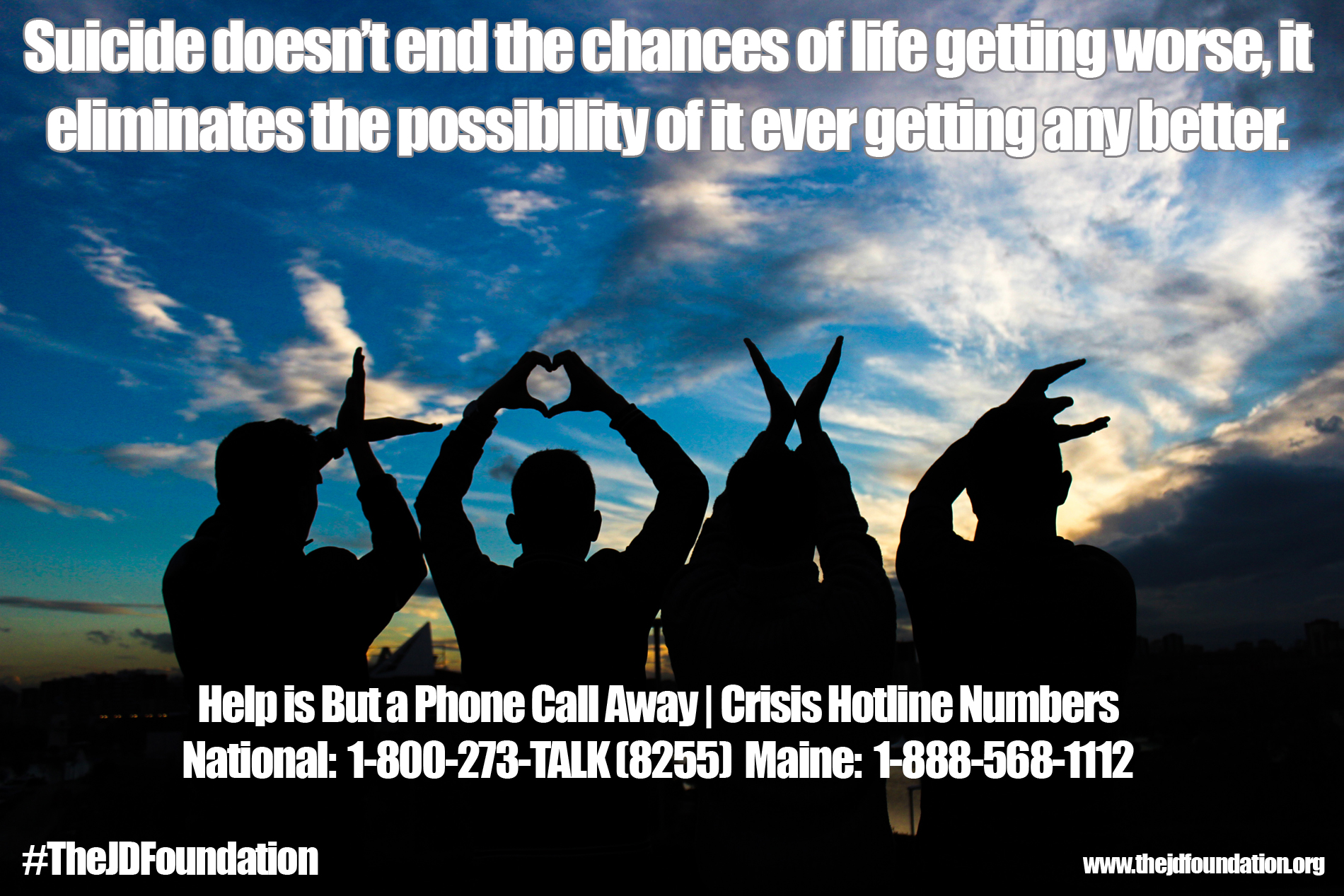 Suicide Prevention Education in Maine | The JD Foundation