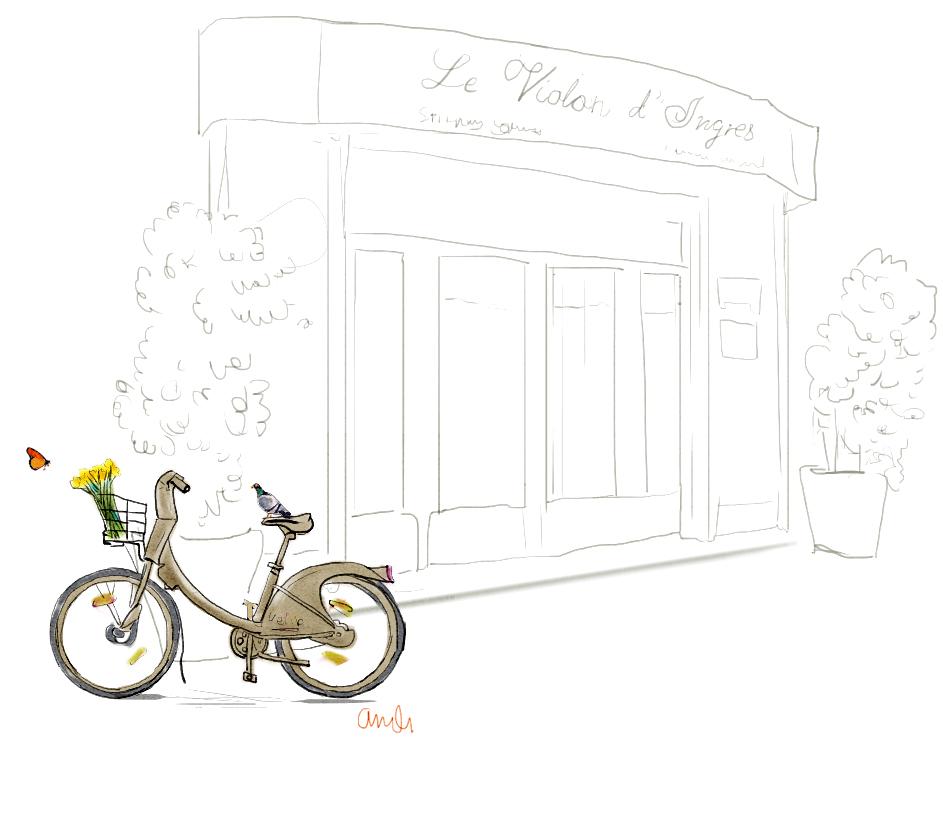 Restaurant Violin D'ingres and Velib