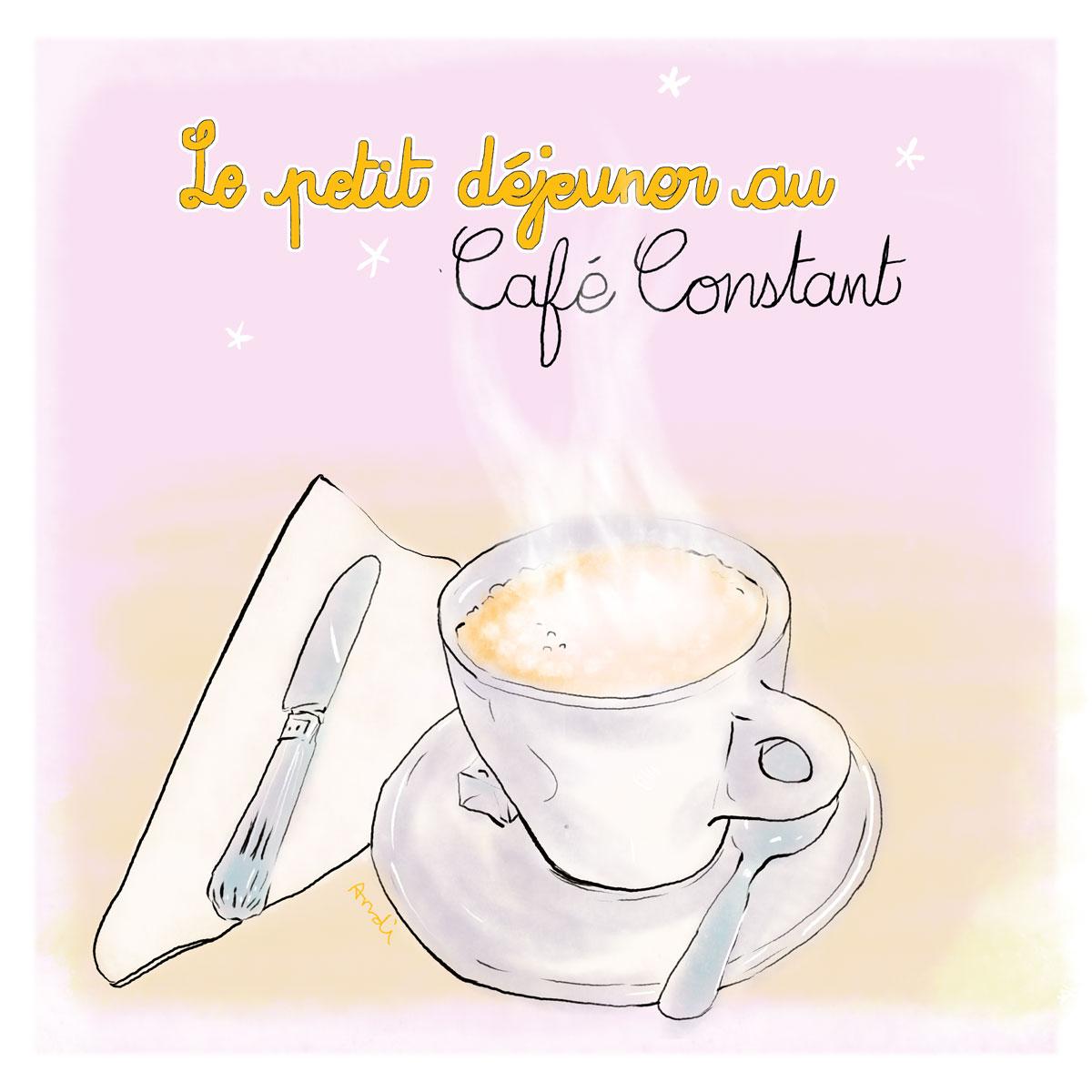 Le Petit dejeuner de Cafe Constant