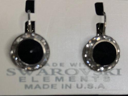 Lever back Swarovski crystal earrings