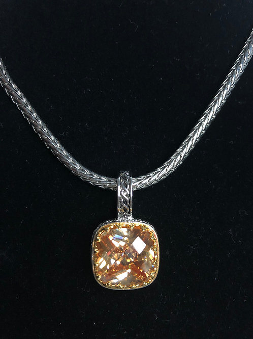 Designer  Champagne  pendant on Magnet chain with earrings