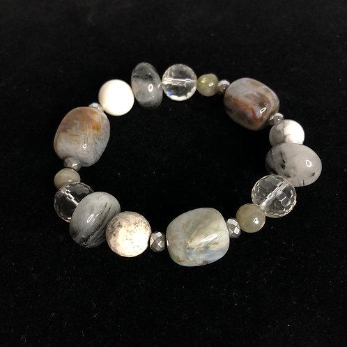 Agate stone elastic bracelet