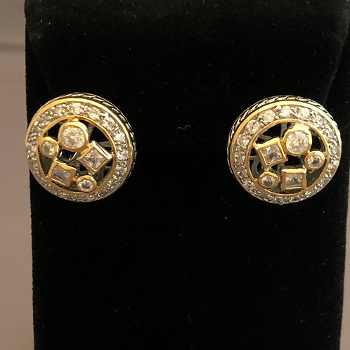 Designer look CLEARCubic Zircon lever back earring