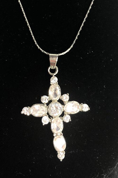 Clear crystal cross
