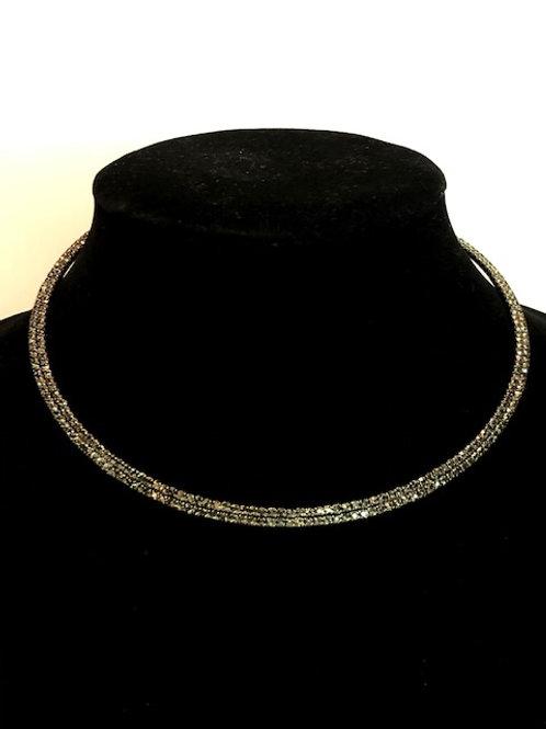Black Austrian crystal choker - One size fits all