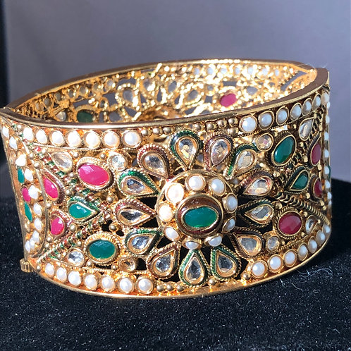 Indian cuff with genuine Indian rubies