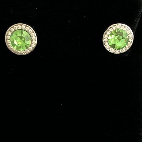 Swarovski crystal stud earrings - SPRING GREEN