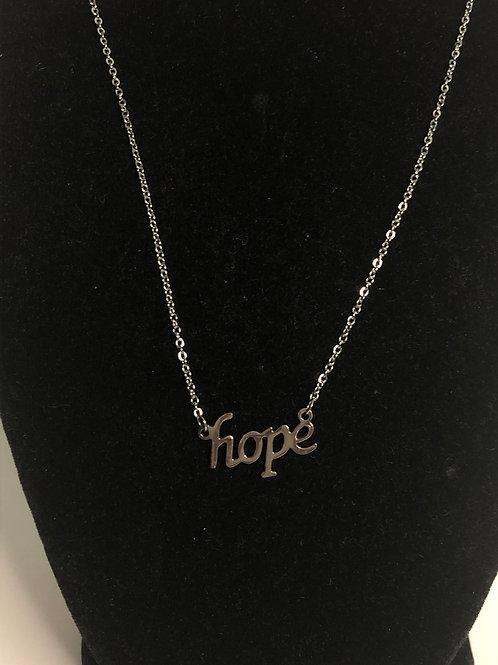 Hope pendant in stainless steel pendant