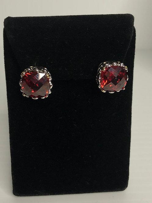 Designer look REDCubic Zircon lever back earrings