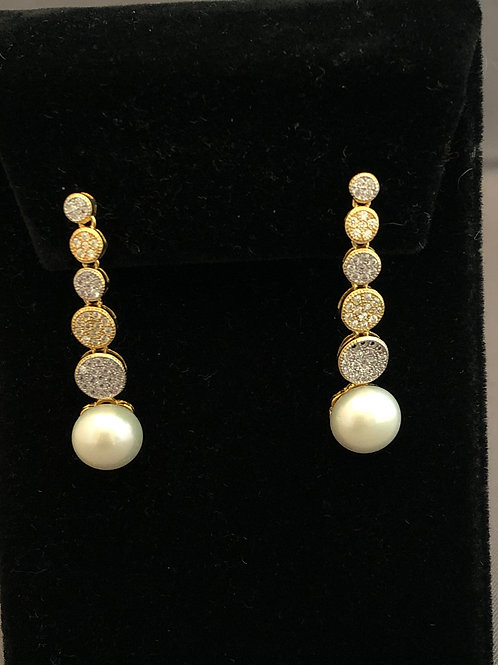 Gold/Sterling Silver Freshwater Pearl Earring